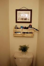 Unique diy bathroom ideas using wood Bathroom Storage Bathroompalletprojectswoohome6 Woohome The Best 24 Diy Pallet Projects For Your Bathroom