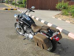 new leather saddlebags solo seats and passenger seat ghassan s bike