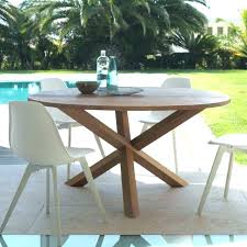 round teak outdoor dining table