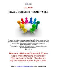 north kingstown chamber of commerce small business round table at the north kingstown chamber