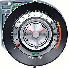 camaro parts tach classic industries 1968 camaro 5500 red line tic toc tach