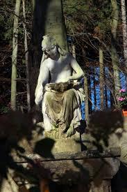 Woman Sculpture Light Figure Sculpture Statue Woman Sit Forest Light And