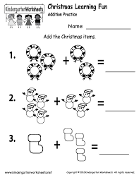 Christmas Addition Worksheets Kindergarten Free Worksheets Library ...