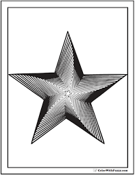Small Picture Star Geometric Coloring Page Twisted 3D Star