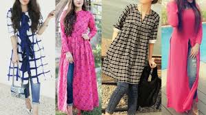 Kurta Designs To Wear With Jeans Daily Wear College Kurti With Jeans Designs Long Trendy
