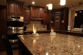 dark cherry kitchen cabinet with glass door wall cabinet feat double stainless steel wall oven