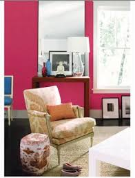 possible laundry room color hot pink living room design with pot pink walls and large white framed window allowing generous