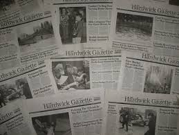 write an essay and you can own my newspaper vermont man says  the hardwick gazette is a broadsheet weekly newspaper  a circulation of about  credit the hardwick gazette