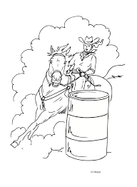 Small Picture Barrel Horse Coloring Pages Coloring Pages