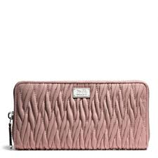 Lyst Coach Madison Accordion Zip Wallet In Gathered Twist Leather