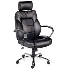 office leather chair. OneSpace Commodore II Black Oversize Leather Chair With Adjustable Headrest Office