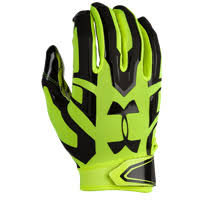 under armour youth football gloves. under armour f5 football gloves - men\u0027s light green / black youth