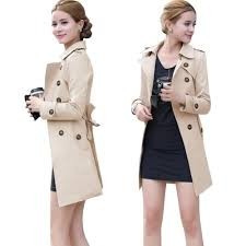 autumn winter women long trench coat fashion khaki black cotton blends turn down collar casual office trench from china dhgate com
