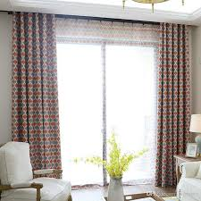 Geometric Pattern Curtains Awesome 48 Nordic Style Geometric Pattern Blackout Curtains For Living