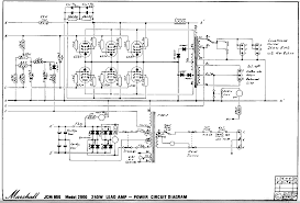 marshall schematics power amp and psu schematic 6x 6550 issue 2 marshall 1981