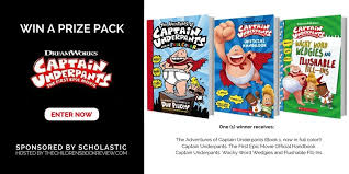 win a captain underpants the first epic book prize pack