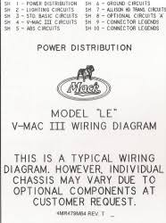mack wiring diagram chassis series le 2000 older
