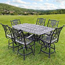 stylish counter height outdoor bistro set counter balcony height patio furniture family leisure