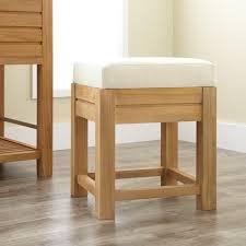 banta teak bathroom stool with fabric top  bathroom