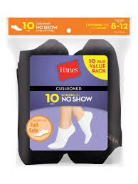 Hanes Hanes Womens Cushioned No Show Socks 10 Pack