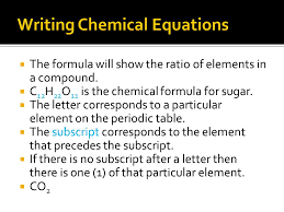 chemical equations are short easy ways to show a chemical reaction by using elements
