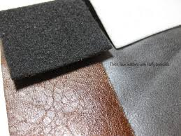 of layers coming together most home machines can t handle the thickness but this does save you using a thin batting the faux leather has it built in