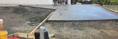 laying concrete driveway first concrete