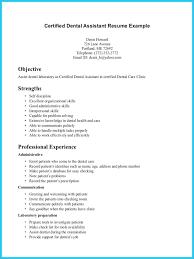 Resume Template Dental Assistant Kantosanpo Com