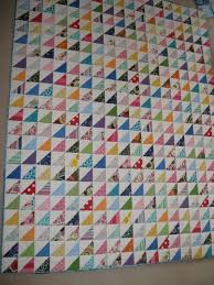 Half Square Triangle quilt complete | Squares and Triangles &  Adamdwight.com