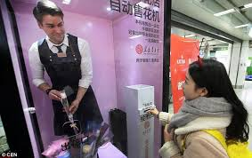 Woman Vending Machine Delectable Human Vending Machines' Appear In Chinese Subway Station Daily