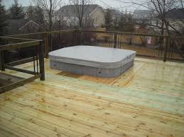 hot tub deck. Oasis Spa Sunken In The Deck Hot Tub