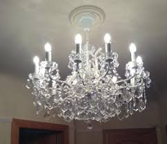 shallow 12 branch chandelier silver or white