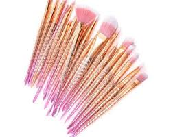 spectrum brushes rose gold. 20pcs unicorn make up brushes rose gold mermaid brush eye shadow foundation eyebrow makeup fishtail spectrum