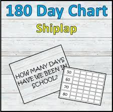 180 Day Chart School Countdown Shiplap By Erics Corner