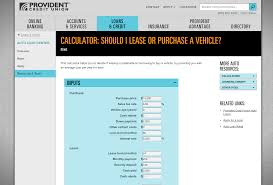 Car Lease Calculator Leasing A Car With Credit Unions Carlease Com