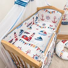 3 pcs baby nursery bedding set fit