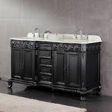 Shop OVE Decors Trent Antique black Undermount Double Sink Bathroom