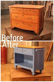 diy kitchen island carts repurposed old furniture don t throw away your 29 upcycled projects you