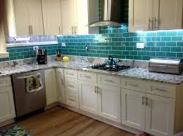 teal tile backsplash kitchen glass ideas of glass subway tile teal subway tile backsplash