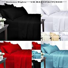 details about new 300 thread count duvet cover set 100 egyptian cotton satin stripe all sizes