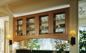 Glass Front Kitchen Cabinets Traditional Kitchen Nice Design