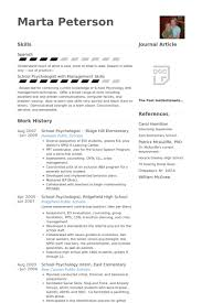 School Psychologist Resume Samples Visualcv Resume Samples Database