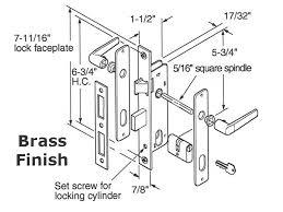 mortise door lock parts. Unique Parts K5130 Mortise Lock  Storm Door Brass On Parts O