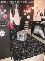 Black & White Nursery With Touches of Pink