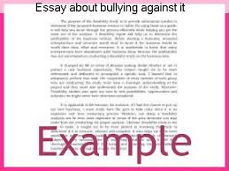 essay about bullying against it essay help essay about bullying against it cause effect essay bullying