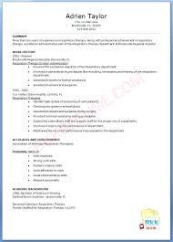Respiratory Therapist Student Resume Sample Respiratory Therapist Resume Barca Fontanacountryinn Com