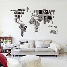 amazon world map in country names vinyl wall decal for living room decor home kitchen on wall art stickers quotes australia with amazon world map in country names vinyl wall decal for living