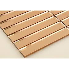 1 x 6 bronze copper glass uniform brick tile glossy p360