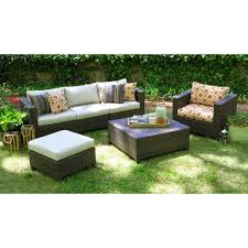 Outdoor furniture set Sectional Target Biscayne 5piece Wicker Sectional Seating Patio Furniture Set Target