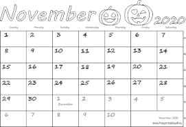 November 2020 Calendar Printables Pdf November 2020 Usa Calendar Free Printable Pdf
